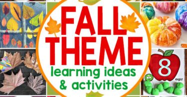 Make learning fun this September, October, and November with this easy Fall Unit Study. There are enough fall theme activities and ideas to make a week long fall unit study, and much more. There are fall themed educational activities to teach language arts, fall math, fall science, and lots of fall art and craft ideas! Fall is such a fun theme for homeschooling families to study together – from preschool, pre k, kindergarten, first grade, 2nd grade, 3rd grade to 4th grade, 5th grade, and 6th grade students, there are fun and education fall themed learning ideas for all ages.