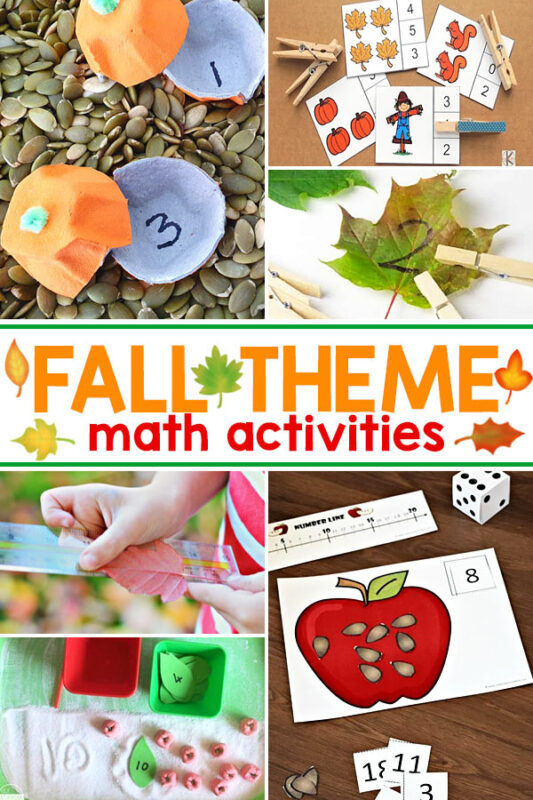 Fall Math Activities There are so many fabulous fall themed math activities on this list, you are sure to find fun fall math games and ideas for kids of all ages and grade levels.