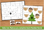 Acorn Cut and Paste Math Worksheets