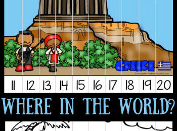 Around the World Count to 50 Puzzles