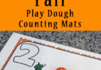 Fall Playdough Counting Mats