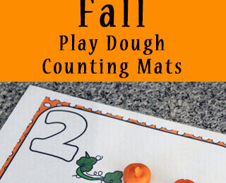 Fall Playdough Counting Mats