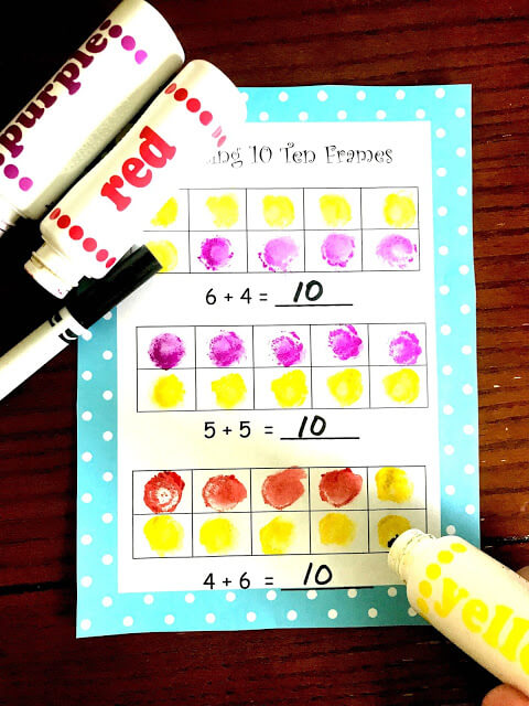 FREE Making 10 With Ten Frames Worksheets