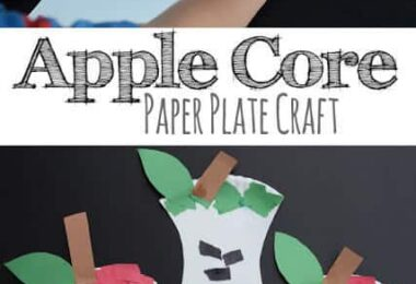 Kids will have fun celebrating September with this super cute and easy apple craft for toddlers, preschoolers, and kindergartners. Thispaper plate apple core craft helps improve fine motor skills and makes a fun activity for an apple theme.