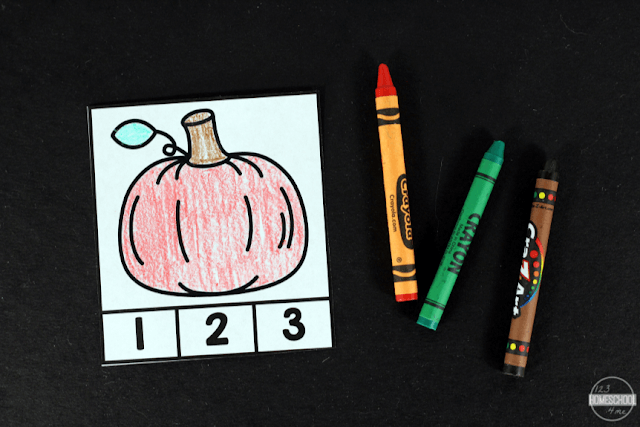 print in color or black and white to save ink and allow students to color in the fall pictures