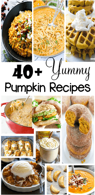 40 Pumpkin Recipes that your family is sure to love! These pumpkin recipes easy are sure to make your fall extra yummy!