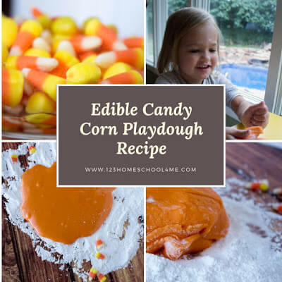 Candy Corn Playdough Recipe Image