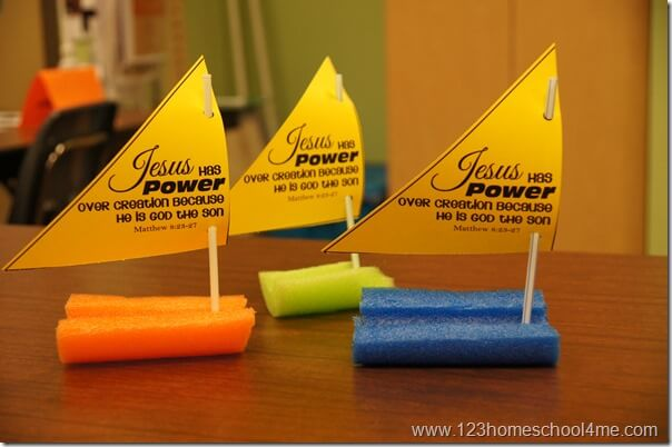 Jesus Calms the Storm Craft for Sunday School