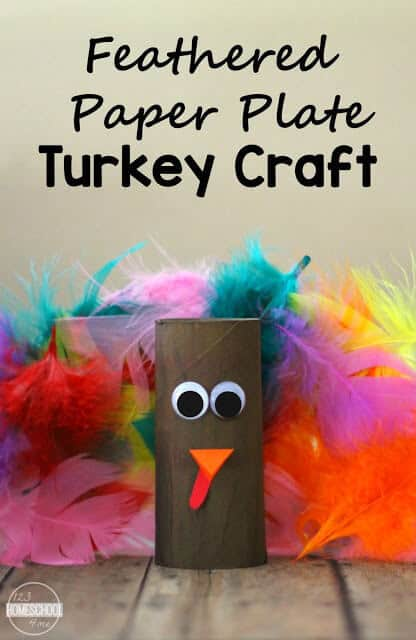 Kids will have fun getting ready for Thanksgiving with this super cute and easy to makepaper plate turkey craftwith feathers. This cute Thanksgiving craft is perfect for toddler, preschool, pre-k, kindergarten, and first grade students.