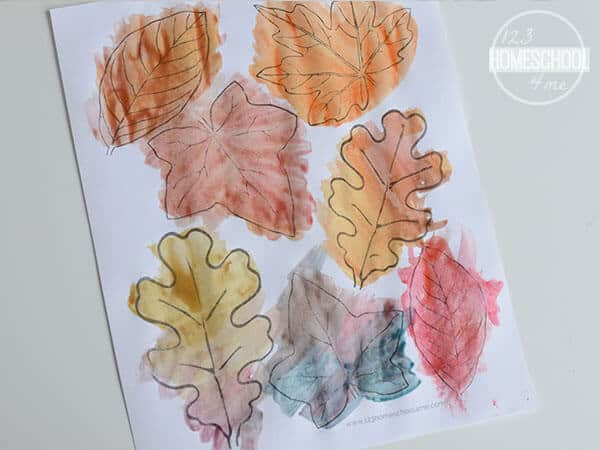 grab these Printable Leaves to make a cute fall craft for kids