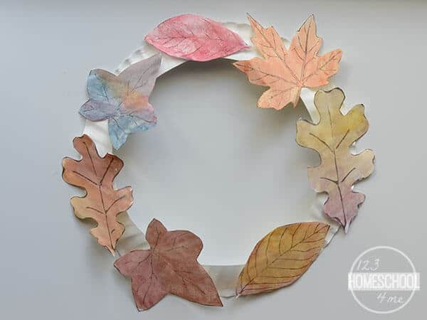 Printable Leaves for a super cute leaf craft for kids