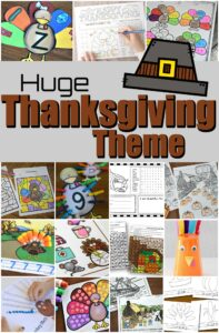 Learn all about Thanksgiving with this fun week-long Thanksgiving theme! Your kids will study this national holiday in November celebrating the harvest the Pilgrims had thanks to the help of Squanto and Native American Indians. This Thanksgiving themes is full of fun hands-on thanksgiving activities, and thanksgiving themed language arts, math, science, and art perfect for pre-k, kindergarten, first grade, 2nd grade, 3rd grade, 4th grade, 5th grade, and 6th grade students.
