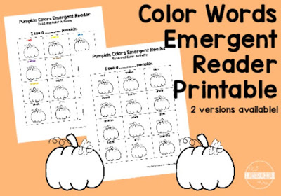 color words emergent reader
