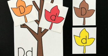 Fall Leaf Alphabet Letters Match