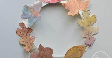 Leaf Wreath Craft for Kids