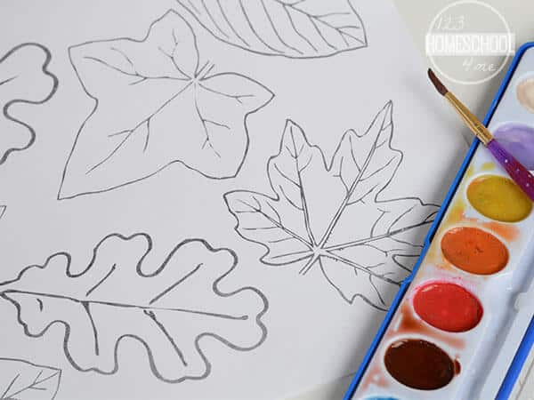 Download the pdf file leaf template to make a cute fall craft for kids