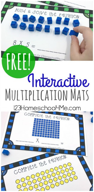 These Interactive Multiplication Mats are a great way to begin that process with 2nd grade, 3rd grade, and 4th grade students.