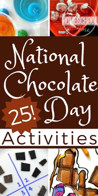 Celebrate National Chocolate Day on October 28th or Valentine's Day in February with these fun, creative, and free chocolate printable worksheets and learning activities for kids of all ages from toddler, preschool, kindergarten, and elementary age kids We lthese ideas for celebrating fun holidays! #nationalchocolateday #valentinesday #funholidays #kidsactivities #unitstudy #preschool