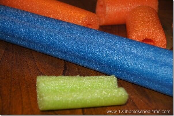 pool noodle craft for kids