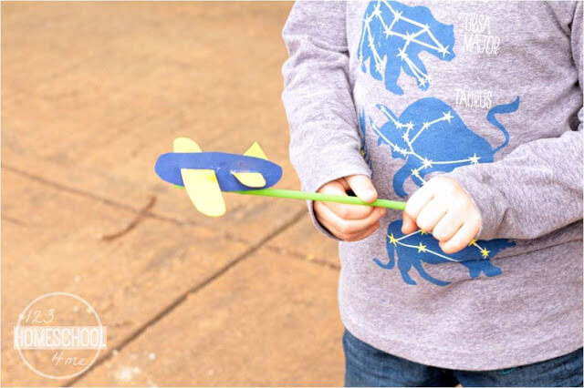 time to play with your straw airplane puppet or retell stories together