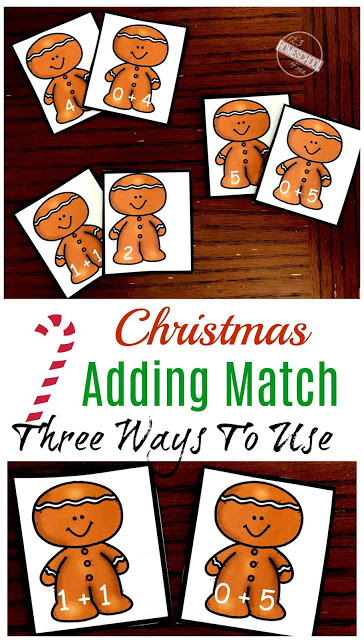 Grab this Adding Within 5 Gingerbread Addition Game to get children practicing their basic adding skills in December. This funChristmas math activity is sure to get kids excited about practicing math this holiday season.ThisChristmas math game is perfect for preschool, pre-k, kindergarten, and even first grade students. Simply download pdf file withgingerbread printables to start adding numbers in this 3-in-1 math game for kids!