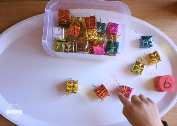 Count to 20 Christmas Counting Game for preschool, kindergarten