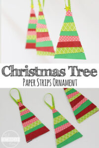 Paper-Strip-Christmas-Tree-Ornament-Craft