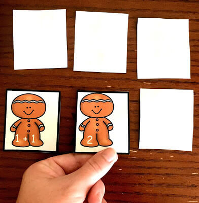 addition game - gingerbread concentration