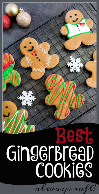 Best Gingerbread Cookies! You are going to love our families BEST Gingerbread Cookie Recipe that actually stay soft, have an amazing flavor, and smell wonderful while they bake. I know you hear these are thebest a lot, but I'm telling you these are truly, hands-down thebest gingerbread cookies. I get requests for this recipe year after year because they actually stay soft and are so YUMMY!