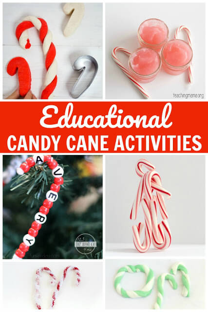 FUN Candy Cane Activities - so many different candy cane crafts for kids. These are perfect for toddlers, preschool, kindergarten, and elementary age kids for Christmas.