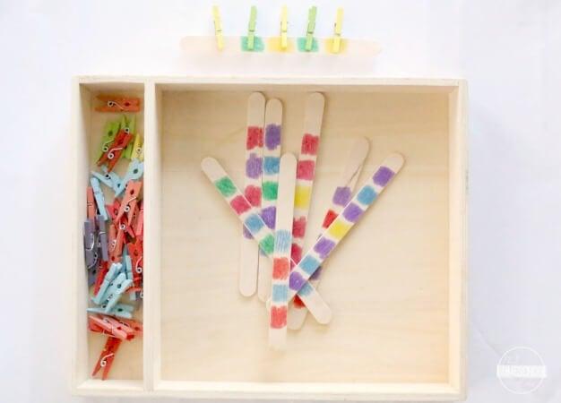 color recognition activity for toddler, preschool, kindergarten
