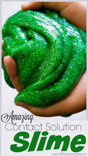 This slime recipe is AMAZING! Not only is this slime recipe with contact solution EASY, but it is outrageously FUN to play with too! Definetly one of the best slime recipes I've seen and a wonderful present for kids friends for Christmas.