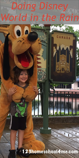 Tips for Doing Disney World in the Rain - GREAT Disney World tips and tricks for making the most of regular Florida rains to get shorter lines, amazing character interactions, and more! So many great secrets for planning your next vacation.