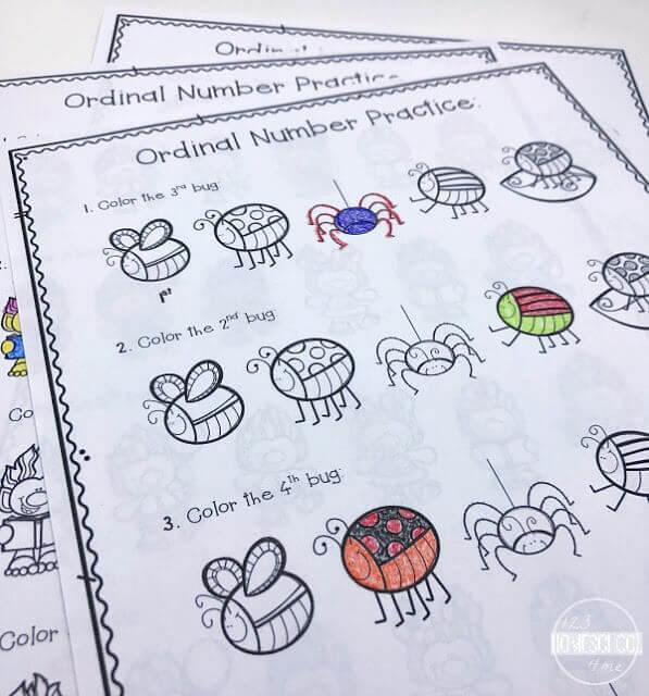 Free Ordinal Numbers Worksheet