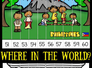 Around the World Count to 100 Puzzles