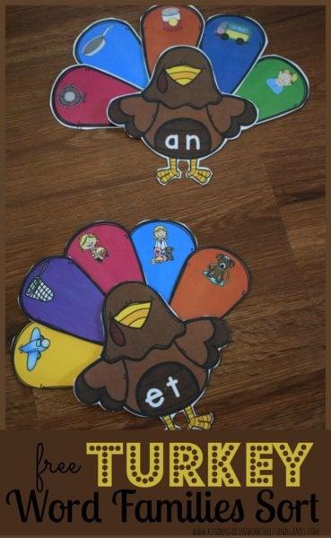 turkey-word-family-sort