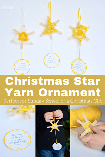 This diy christmas star is perfect for accompanying many different Christmas lessons for kids of all ages at home or with your Christmas Sunday school lessons. Thisstar Christmas craft is super cute and fun-to-make with toddler, preschool, pre-k, kindergarten, first grade and 2nd grade students during the holiday season in December.