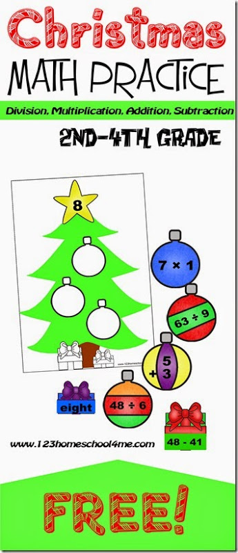 Free Decorate The Math Christmas Trees 123 Homeschool 4 Me