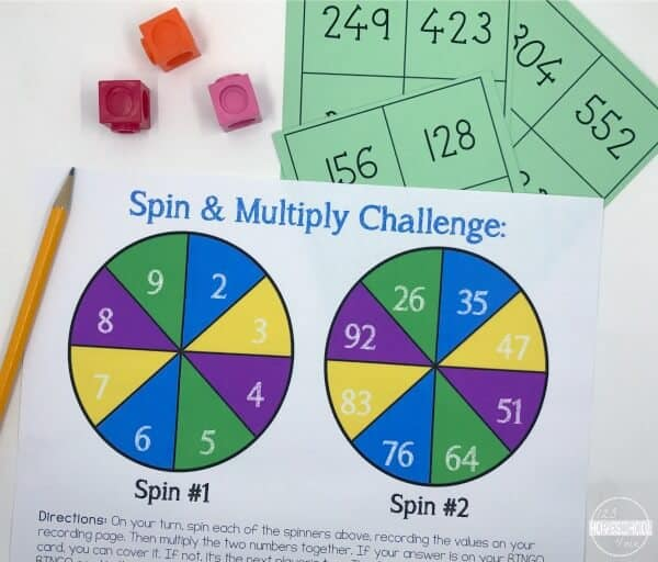 Double Digit Multiplication Games