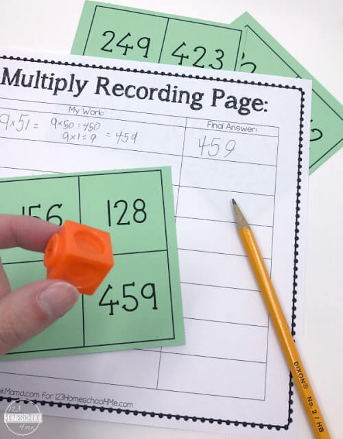 Spin and Multiply Game Cards