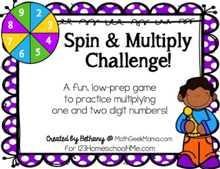 Spin and Multiply Game Cover