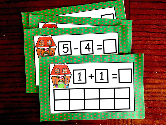 adding and subtracting gum drop task cards
