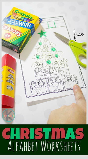 Free Christmas Alphabet Worksheets