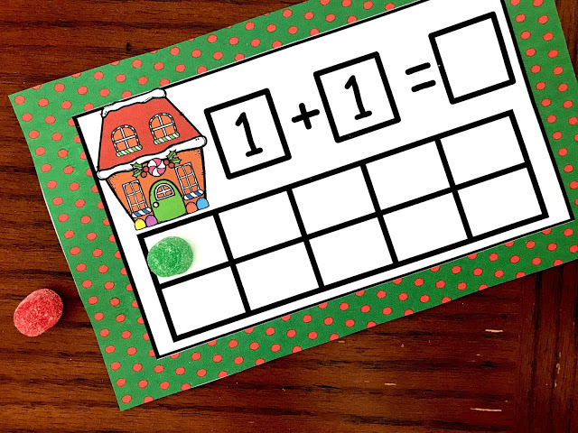 Christmas math for preschool, kindergarten, first grade