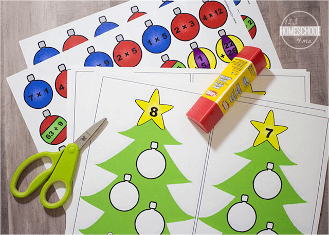 Christmas math practice with interactive, hands on Christmas math worksheets