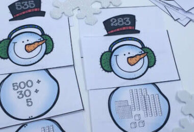 Place Value Snowman