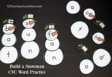 Build a Snowman CVC Words Practice