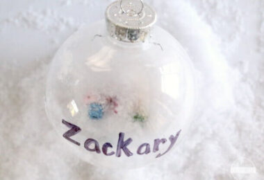 I SPY Name Ornament for Kids