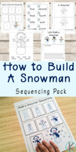 Snowman Sequencing Worksheets