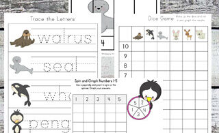 Arctic Animals Worksheets for Kids
